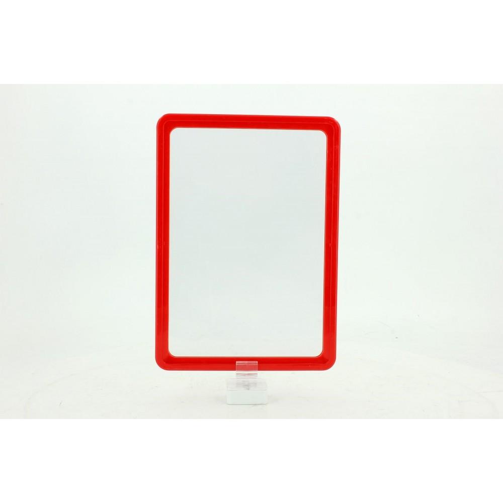 Mıknatıslı Plastik Ürün Tanıtım ve Fiyatlandırma Levhası Kırmızı