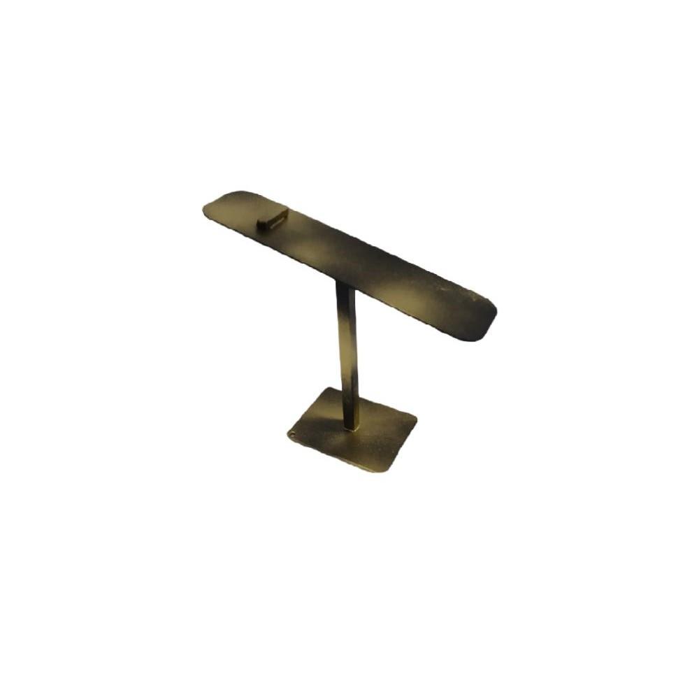 Ayakkabı Teşhir Standı Altın Eskitme Metal 20 cm