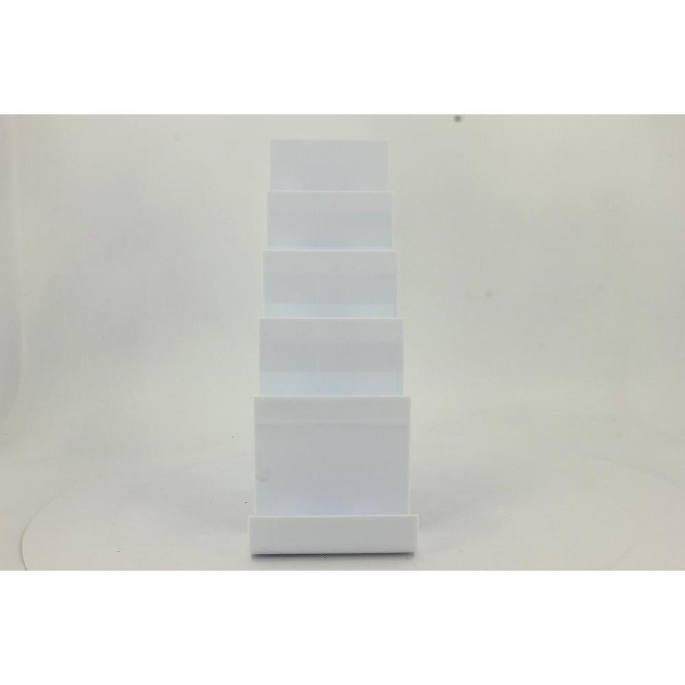 Cüzdan ve Abiye Çanta Teşhir Standı Plastik Beyaz