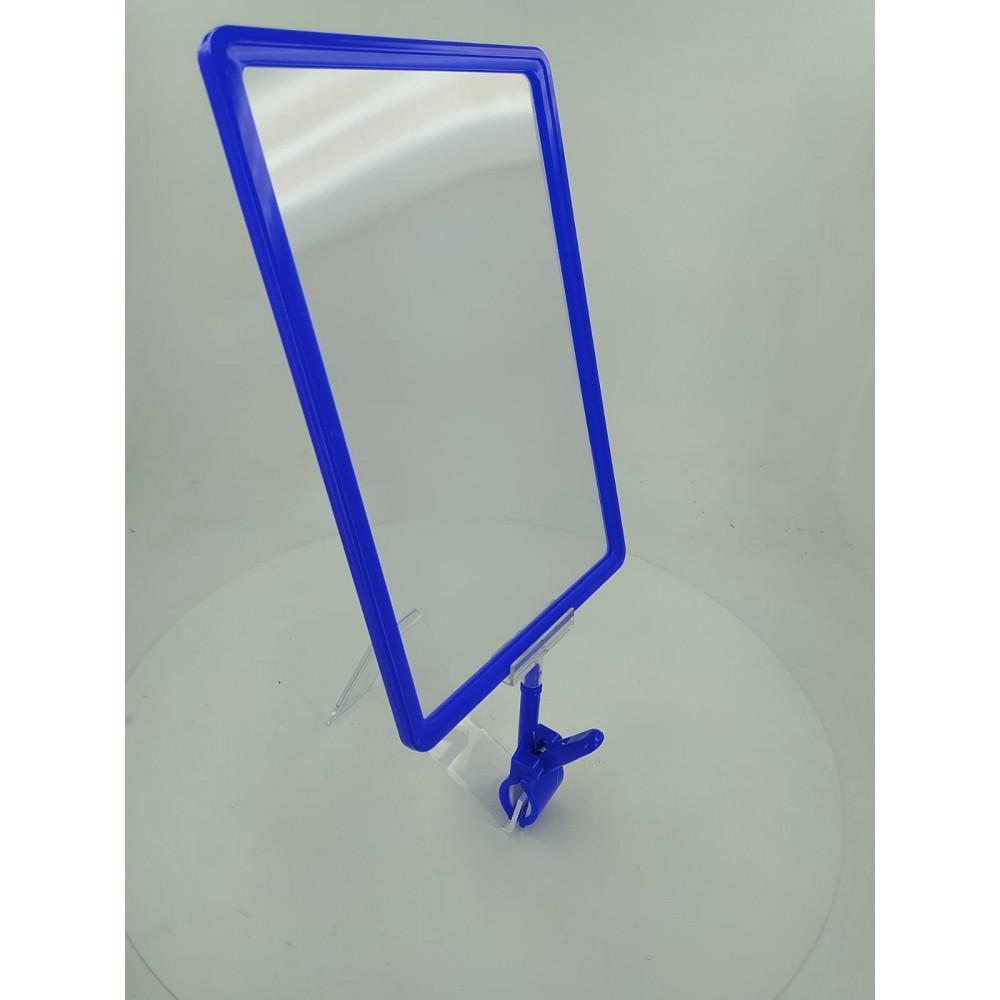 Mandallı Ürün Tanıtım Çerçevesi Plastik Mavi