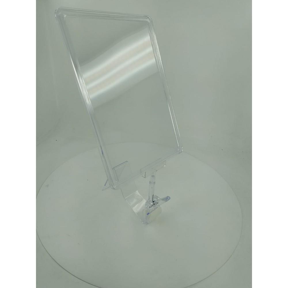 Mandallı Ürün Tanıtım Çerçevesi Plastik Şeffaf