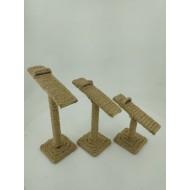 Masa Üstü Üçlü Örme Ayakkabı Teşhir Standı